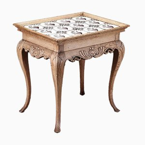 Antique Manganese Tile Table, 1800