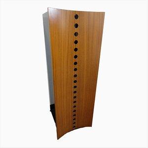 Armadio impiallcciato in legno di noce di Giovanni Carini per Poltronova, anni '70