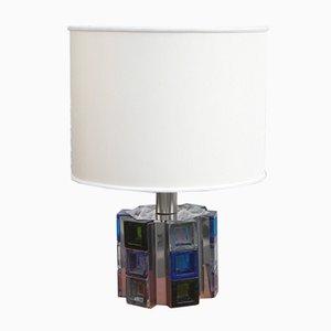 Lámpara de mesa con cubos pintados de Poliarte, años 70