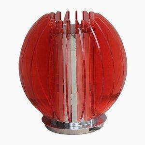Lámpara de mesa de plexiglás, años 80
