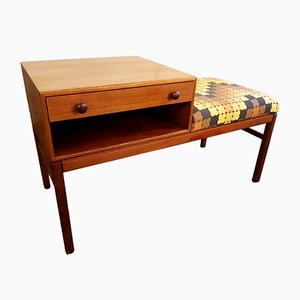 Swedish Telephone Table & Bench from Tingströms, 1960s