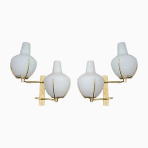 Italian Wall Lamps from Stilnovo, 1960s, Set of 2