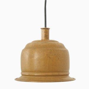 Lampada a sospensione vintage in ottone