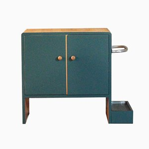 Vintage Hall Way Cabinet with Umbrella Stand