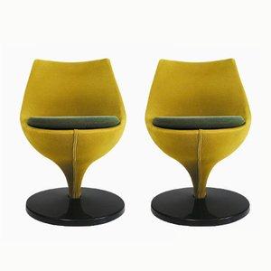Moderne Vintage Polaris Stühle von Pierre Guariche für Meurop, 2er Set