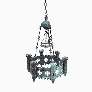 Antique French Castle Chandelier