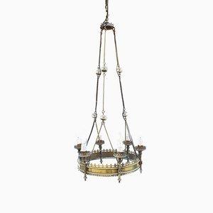 Lámpara de araña antigua de latón