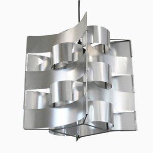 Lampe à Suspension en Aluminium par Max Sauze, France, 1970s