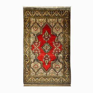 Middle Eastern Silk Rug, 1950s