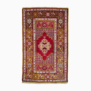 Vintage Turkish Wool Double Niche Prayer Rug, 1960s