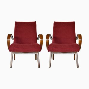 Model 53 Armchairs by Jaroslav Smídek for TON, 1960s, Set of 2