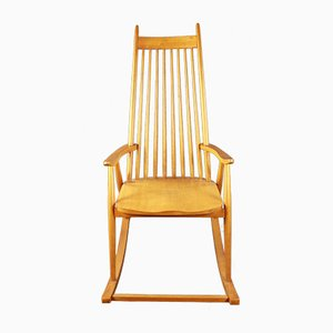 Scandinavian Oak Rocking Chair by Varjosen Puunjalostus for Uusikylä, 1960s