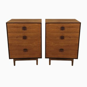Teak & Rosewood Tallboy by Ib Kofod-Larsen for G-Plan, 1960s, Set of 2