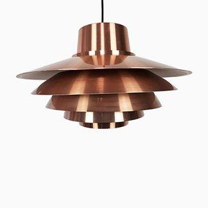 Luz colgante Verona de cobre de Svend Middelboe para Nordisk Solar, años 70