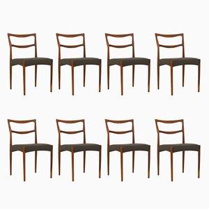 Däische Palisander Esszimmerstühle von H.W. Klein für Bramin, 1963, 8er Set