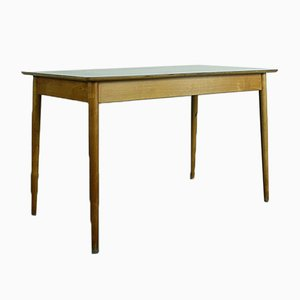 Beech and Gray Checked Formica Table from Kandya, 1950s