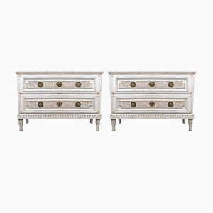 Antique Swedish Louis XVI Style Chests of Drawers, Set of 2