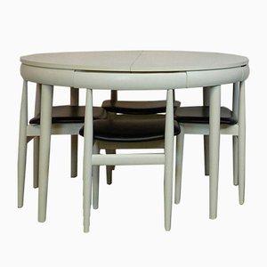 Table et Chaises Mid-Century par Hans Olsen pour Frem Røjle