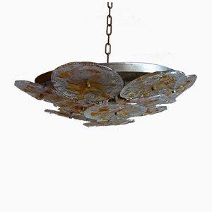 Lámpara de araña de cristal de Murano de Carlo Nason para Mazzega