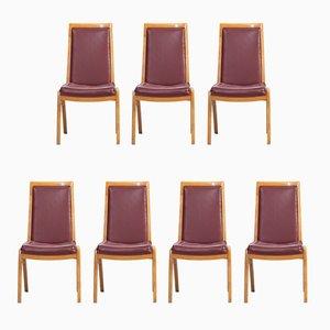 Österreichische Vintage Esszimmer Stühle, 7er Set