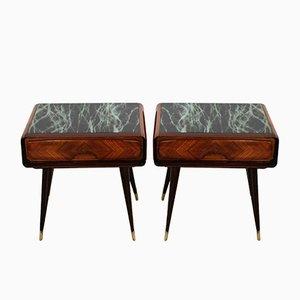 Tables de Chevet Mid-Century en Palissandre par Vittorio Dassi, Italie, Set de 2