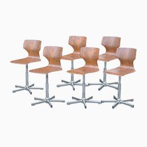 Chaises de Bar Vintage par Adam Stegner pour Flötotto, 1970s, Set de 6