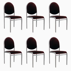 Vintage Chrome Dining Chairs by Renato Zevi, Set of 6