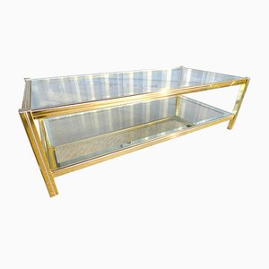 Vintage French Golden Metal Coffee Table