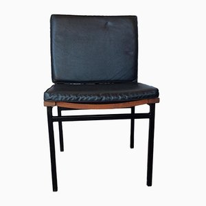 Chaise de Bureau Mid-Century en Teck et Acier, 1960s