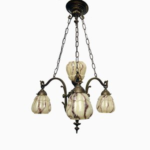 Vintage French Copper Chandelier