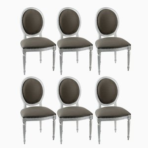 French Louis XVI Style Dining Chairs, 1880s, Set of 6