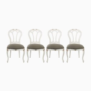 Antique French Side Chairs, 1900s, Set of 4