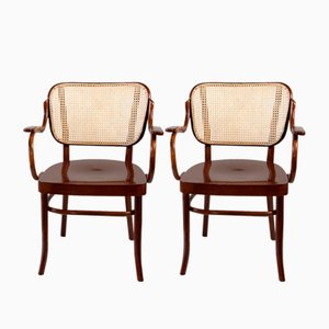 Vintage Nr. 283 F Bentwood Armchairs by Gustav Adolf Schneck for Thonet, Set of 2