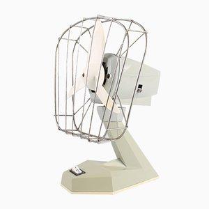 Grauer Vintage DDR Ventilator aus Kunststoff