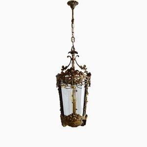 Lanterna floreale in bronzo, Italia, anni '50