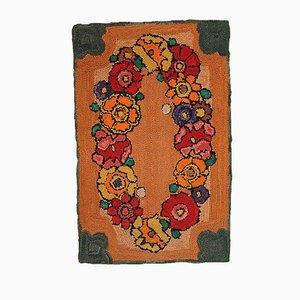 Tapis Crocheté Vintage Fait Main, États-Unis, 1940s