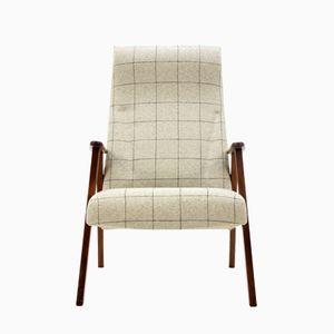Danish Teak Lounge Chair With Stool, 1960s