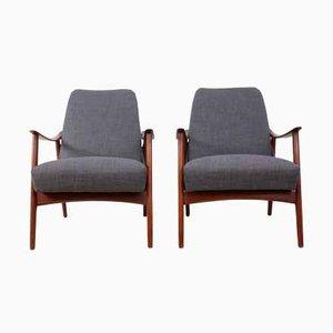 Dänische Mid-Century Teak Sessel mit Armlehnen, 1960er, 2er Set