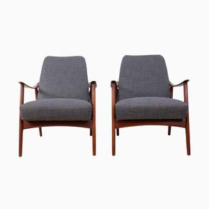 Mid-Century Danish Teak Armchairs, 1960s, Set of 2