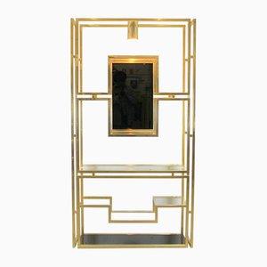 Französisches Vergoldetes Metall Regal von Kim Moltzer, 1970er