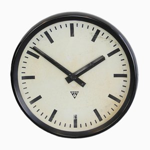 Grande Horloge en Bakélite de Pragotron, 1950s