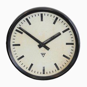Reloj grande de baquelita de Pragotron, años 50
