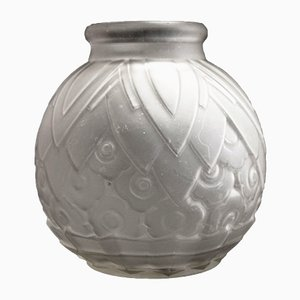 Art Deco French Small Round Vase, 1930s