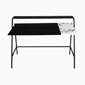 Ossau Schreibtisch in Arabescato Marmor, Leder & Metall von Studio AC/AL für Versant Edition