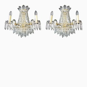 Vintage Crystal Wall Appliques, Set of 2