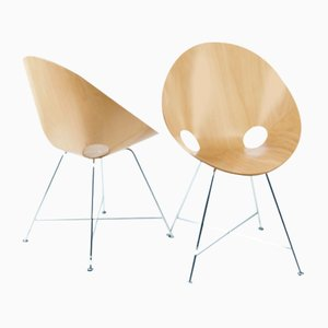 664 Side Chairs by Eddie Harlis for Thonet, Set of 2