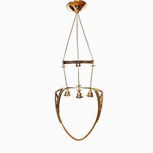 Lámpara de araña modernista de latón