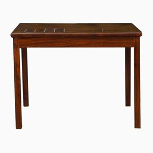 Vintage Danish Rosewood Coffee Table with Tile Detail