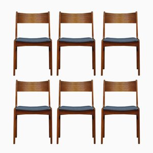 Vintage Teak Chairs from Funder-Schmidt & Madsen, Set of 6