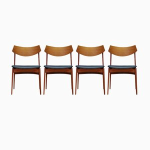 Vintage Teak Chairs from Funder-Schmidt & Madsen, Set of 4